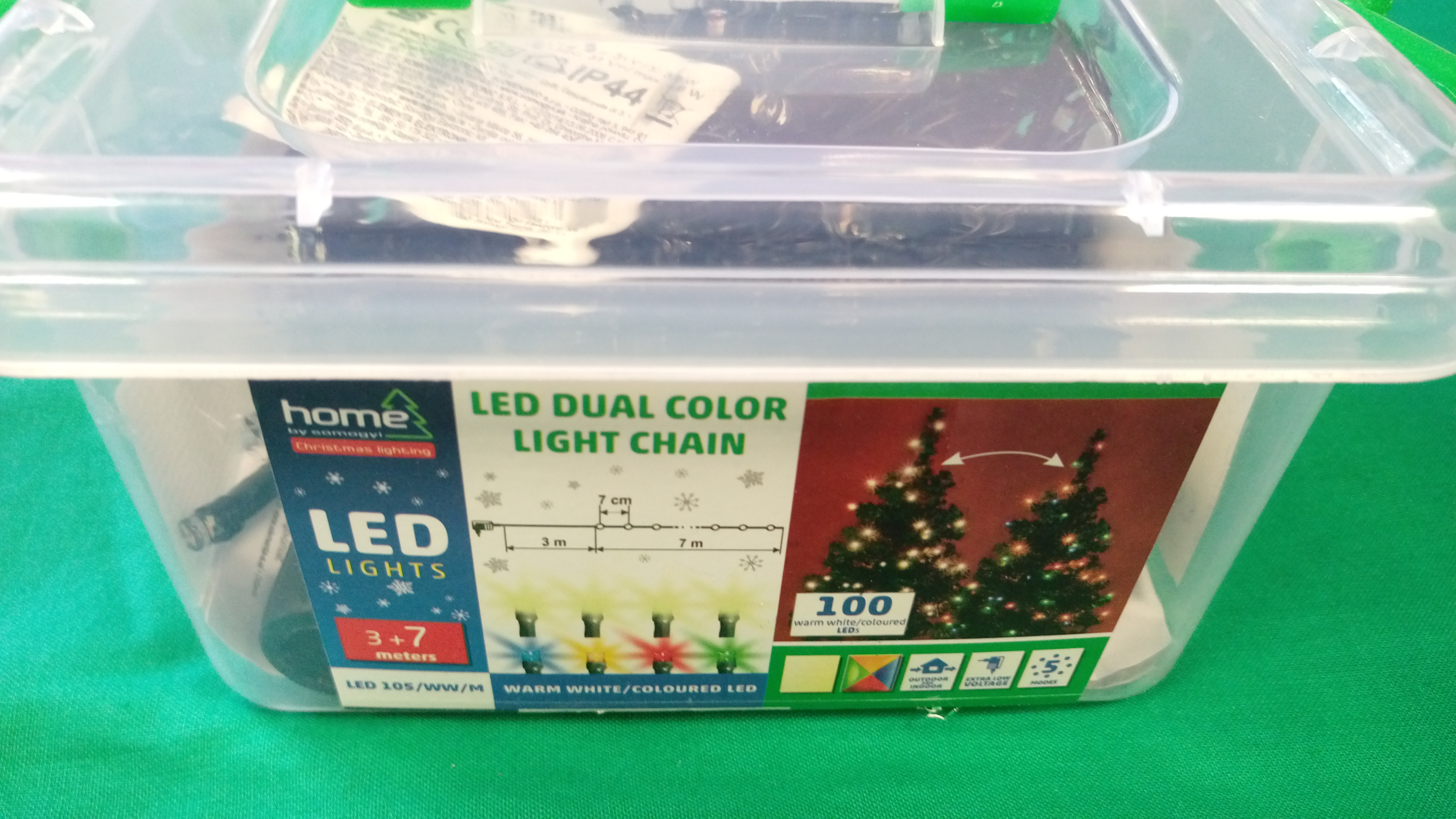 HOME LED-es DUAL COLOR fényfüzér (LED 105/WW/M), kiemelt kép