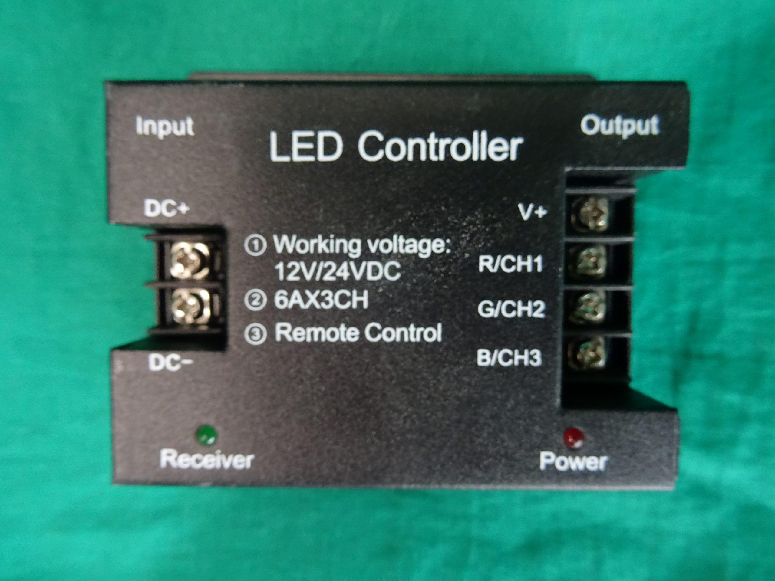 4 kulcsos RF vezeték nélküli nagyfeszültségű RGB vezérlő, kiemelt kép