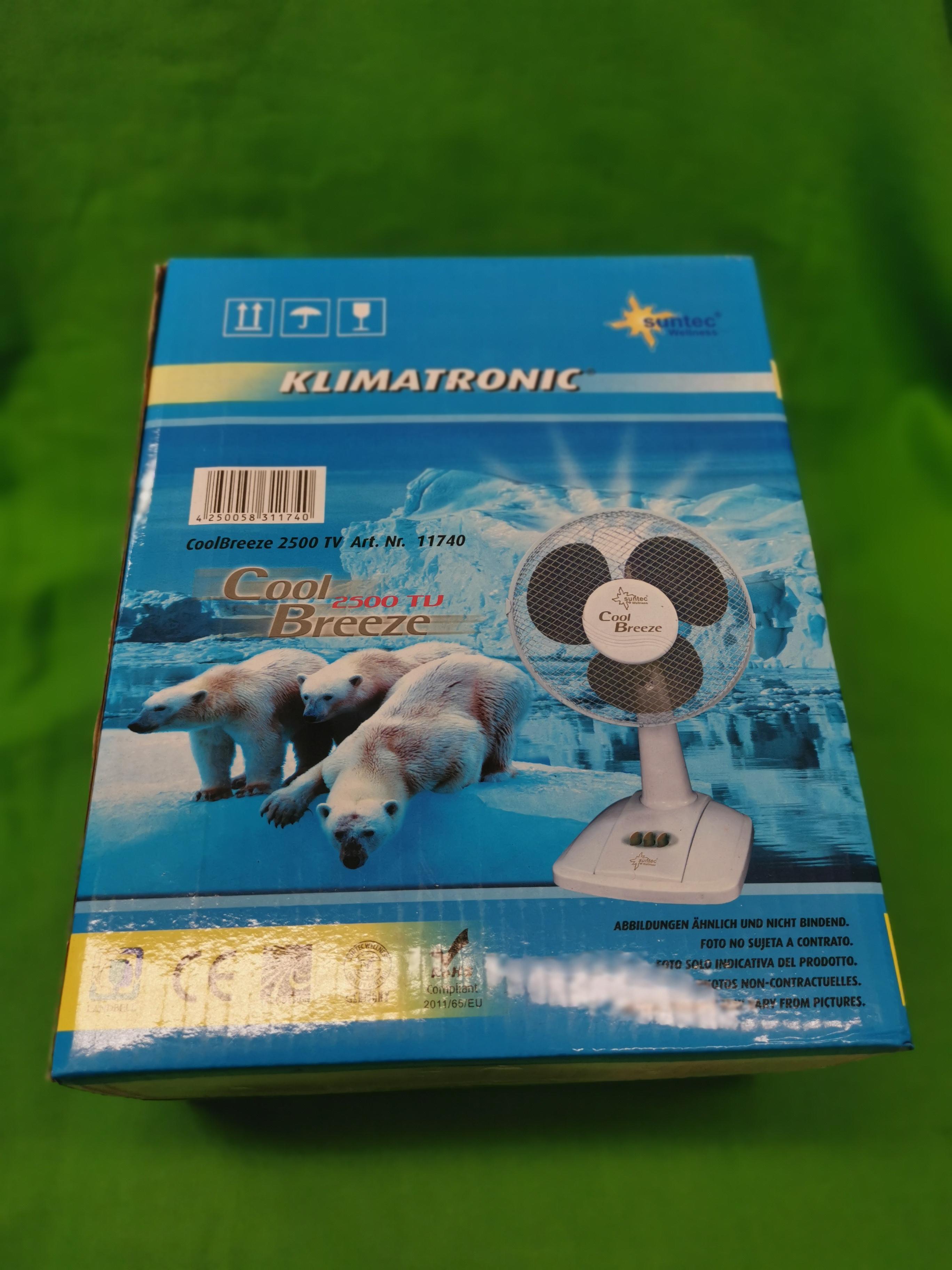 Suntec Coolbreeze 2500 asztali ventilátor, ÚJ, kiemelt kép